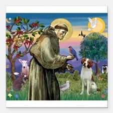 St Francis / American Brittan Square Car Magnet 3&