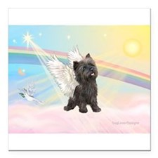 Angel / Cairn Terrier (brin) Square Car Magnet 3&q