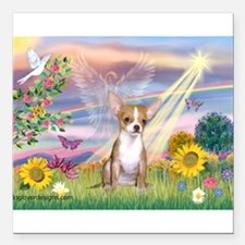 Cloud Angel / Chihuahua (f) Square Car Magnet 3&qu