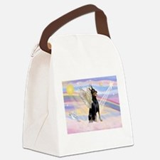 Dobie Angel in Clouds Canvas Lunch Bag