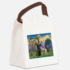 St Francis / German Shepherd Canvas Lunch Bag