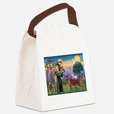 St Francis / Irish Setter Canvas Lunch Bag