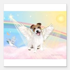 Angel /Jack Russell Terrier Square Car Magnet 3&qu