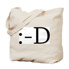 Grinning Smiley Tote Bag