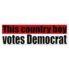 Country Boy Democrat Bumper Bumper Sticker