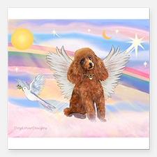 Angel/Poodle (Aprict Toy/Min) Square Car Magnet 3&