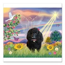 Cloud Angel / Poodle (#17)(bl Square Car Magnet 3&