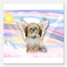 "Shih Tzu / Angel Square Car Magnet 3"" x 3&quo"
