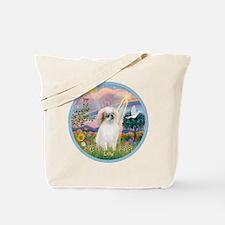 Cloud Angel - Japanese Chin ( Tote Bag