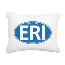 Blue Oval ERI Rectangular Canvas Pillow