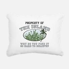 Property of the Island Rectangular Canvas Pillow