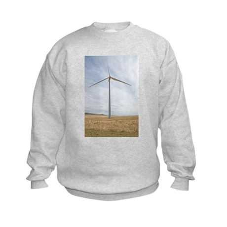 Wind Turbine Kids Sweatshirt