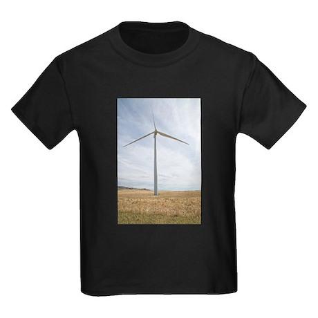 Wind Turbine Kids Dark T-Shirt