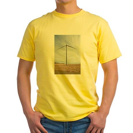 Wind Turbine Yellow T-Shirt
