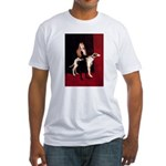 GREYHOUND & GIRL Fitted T-Shirt