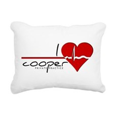 I Heart Cooper Rectangular Canvas Pillow