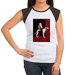 GREYHOUND & GIRL Women's Cap Sleeve T-Shirt
