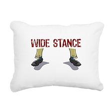 Wide Stance Feet Rectangular Canvas Pillow