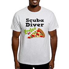Scuba Diver Funny Pizza T-Shirt
