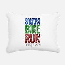 Swim, Bike, Run - Triathlon Rectangular Canvas Pil