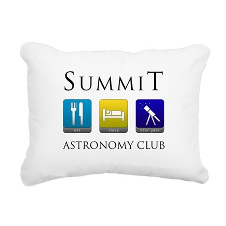 Summit Astronomy Club Rectangular Canvas Pillow
