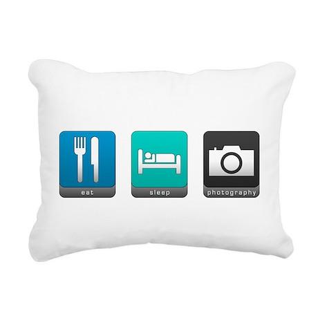 Eat, Sleep, Photography Rectangular Canvas Pillow