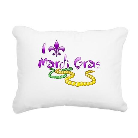 I Fleur-de-Lis Mardi Gras Rectangular Canvas Pillo