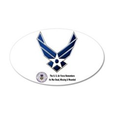 USAF Remembers Wall Decal