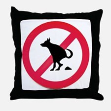 No pooping Throw Pillow