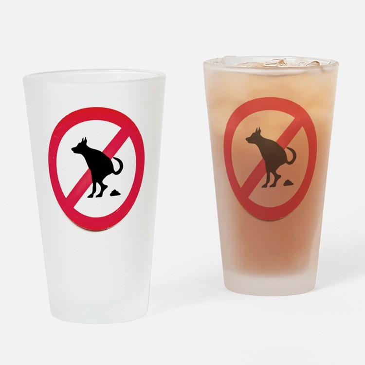 No pooping Drinking Glass