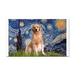 Starry Night / Golden Rectangle Car Magnet