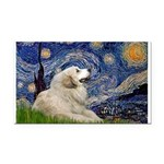 Starry / Gr Pyrenees Rectangle Car Magnet