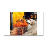 Cafe / Great Pyrenees Rectangle Car Magnet