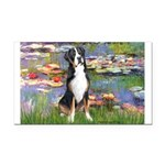 Lilies / GSMD Rectangle Car Magnet
