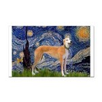 Starry / Greyhound (f) Rectangle Car Magnet