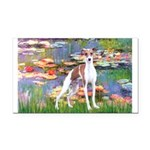 Lilies2/Italian Greyhound Rectangle Car Magnet