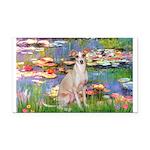 Lilies / Ital Greyhound Rectangle Car Magnet