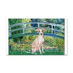 Bridge / Ital Greyhound Rectangle Car Magnet