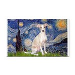 Starry Night / Ital Greyhound Rectangle Car Magnet