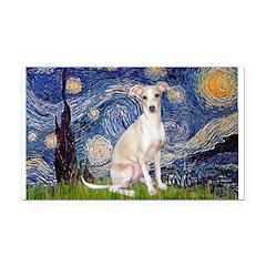 Starry Night / Ital Greyhound Rectangle Car Magnet