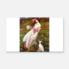 Windflowers / Ital Greyhound Rectangle Car Magnet