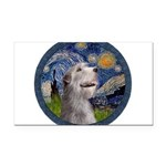 Starry Irish Wolfhound Rectangle Car Magnet