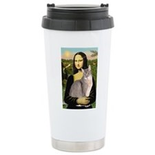 Mona & her Blue Abbyssinian Travel Mug