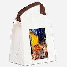 Cafe & Blue Abbysinian Canvas Lunch Bag