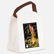 Fairies / Amer Short(b&w) Canvas Lunch Bag