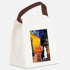 Cafe / Amer Shorthair(b&w) Canvas Lunch Bag