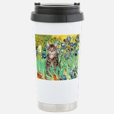 Irises / Tiger Cat Travel Mug