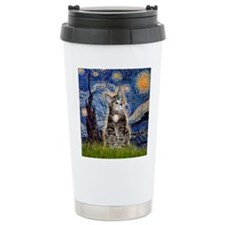 Starry / Tiger Cat Travel Mug