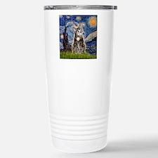Starry / Tiger Cat Travel Mug