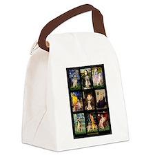 Famous Art Lab (Y) Canvas Lunch Bag